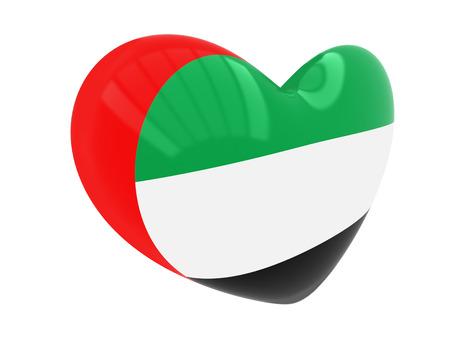 united arab emirates: Heart with United Arab Emirates flag