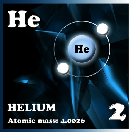 electron shell: The element Helium Stock Photo