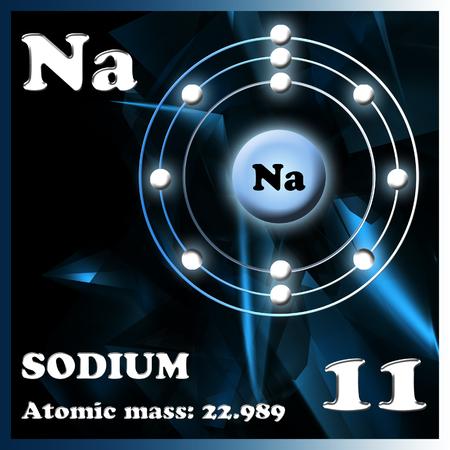 Diagram Representation Of The Element Sodium Illustration Stock