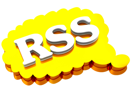 rss sign: 3d RSS sign on a white background
