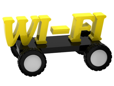 3D Wi-fi sign on wheels