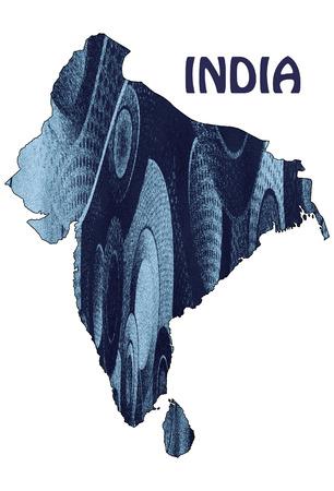modernity: map of india Stock Photo