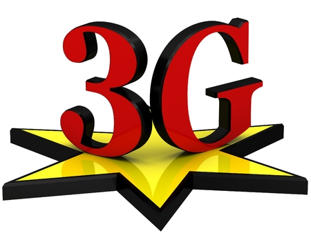 3g: 3D letters 3G Stock Photo