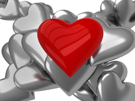 3d heart: Red 3D heart