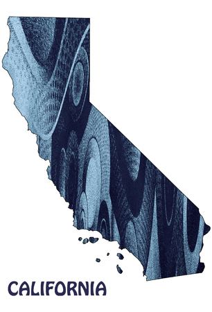 topographical: Abstract California map