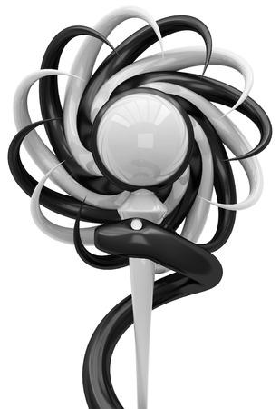 herbolaria: 3D Esculapio símbolo médico