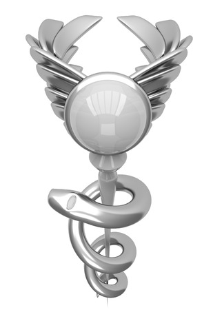 3d Asclepius Medical Symbol Stock Photo Picture And Royalty Free