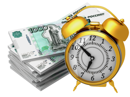 The 3d concept of time is money with Russian rubles