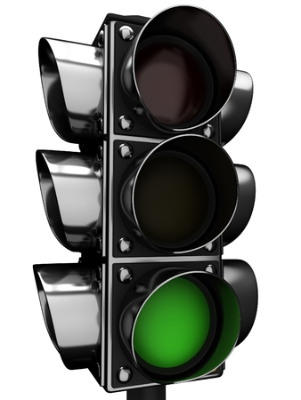 3d Traffic light Stock Photo