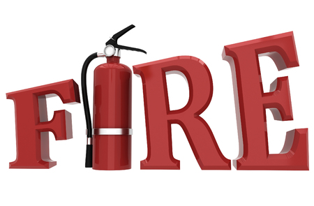 Le concept de sécurité incendie Banque d'images - 77949623