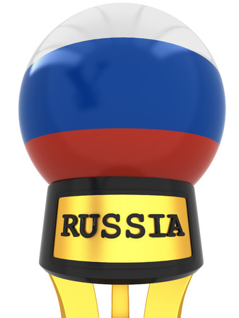 3d ball: 3D Russia official state flag