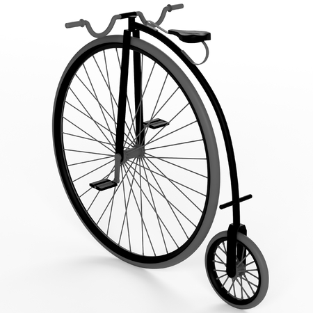3D-oude fiets