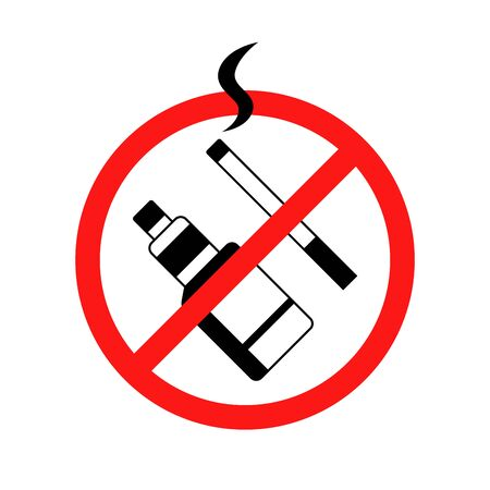 stop smoking cigarette and vape sign