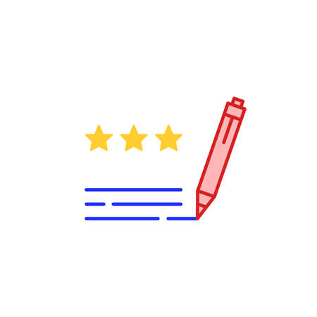 three stars, best rating and feedback icon