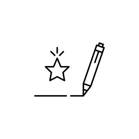 linear pen writes feedback icon