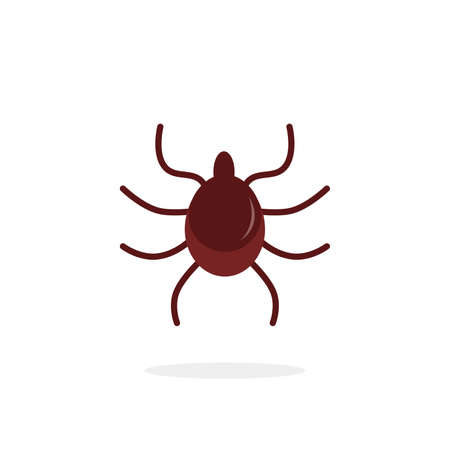 simple flat icon of a brown beetle