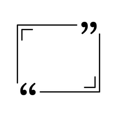 black quote in speech bubble icon