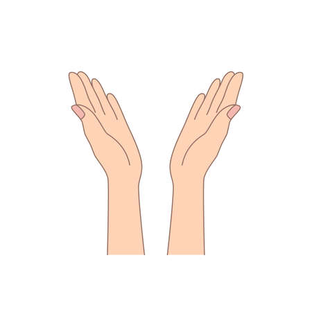 two hands flat symbol