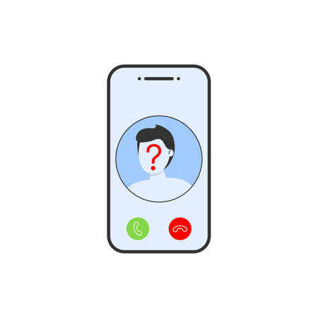unknown number phone icon