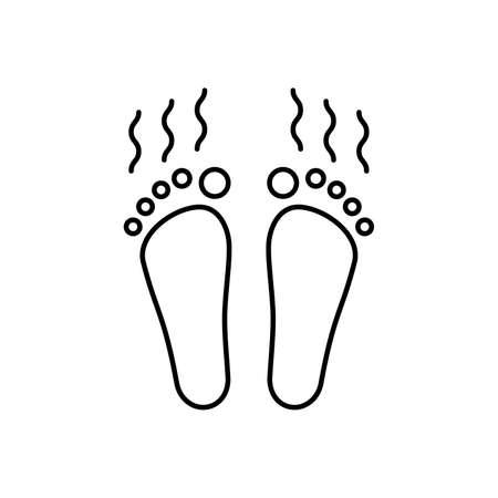 linear smelly feet icon Vektorové ilustrace