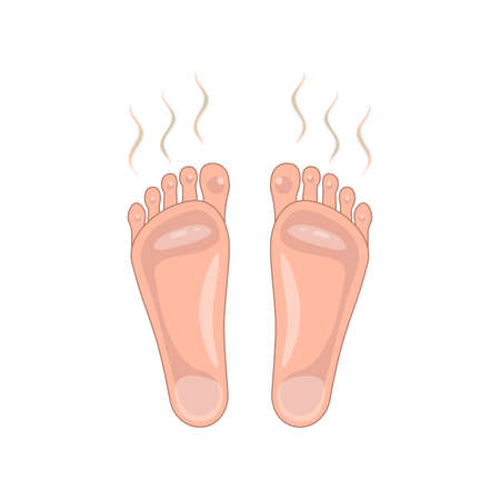 smelly and sweaty feet sign