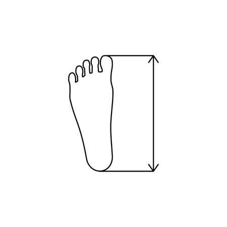 linear foot size icon Çizim