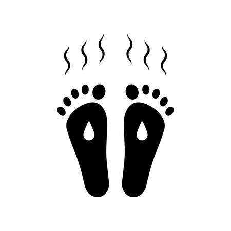 sweaty and smelly feet icon