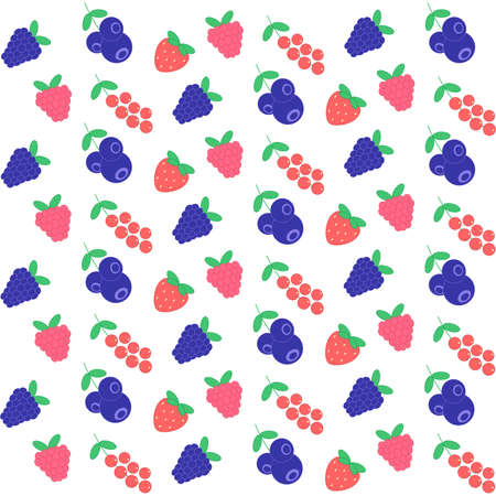 color seamless berry pattern