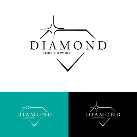 Icon with Stylized Diamond.   イラスト・ベクター素材