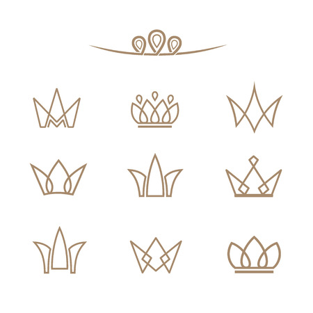 Crowns in a linear style.