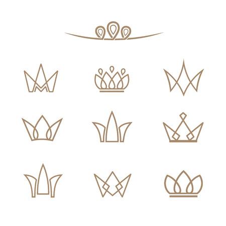 Kronen in een lineaire stijl.