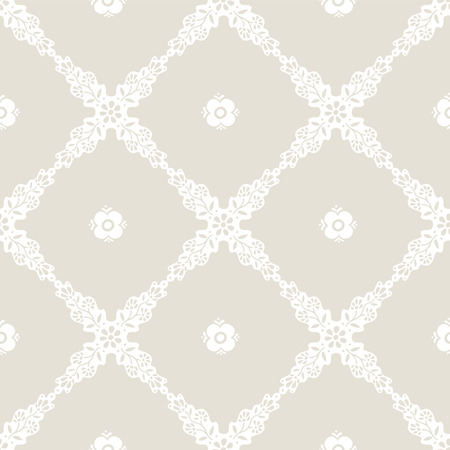 repeat texture: Seamless pattern. Ethnic ornament. Ethnic stylish background. Vector repeat texture with white flowers on grey background.