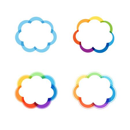 Vector design elements or fram, gradient, flat and line style. Logo design. Illustration