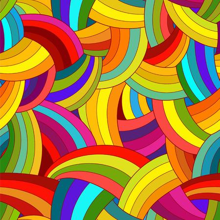 абстрактный: Вектор абстрактный бесшовные модели. Красочные Радуга фон.