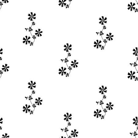 petites fleurs: seamless Ornement avec de petites fleurs noires sur fond blanc. Seamless pour le papier peint, motifs de remplissage, fond de page web, des textures de surface. Illustration