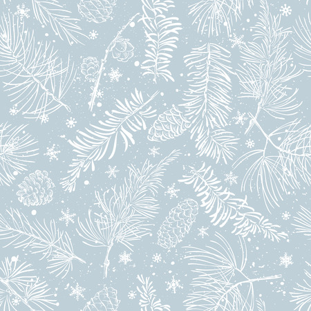 Seamless pattern with fir branches.Christmas and New Year background. Illustration. Ilustrace