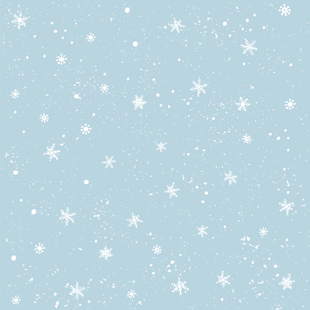 Seamless pattern snow and snowflakes. Christmas and New Year background. Vector illustration.