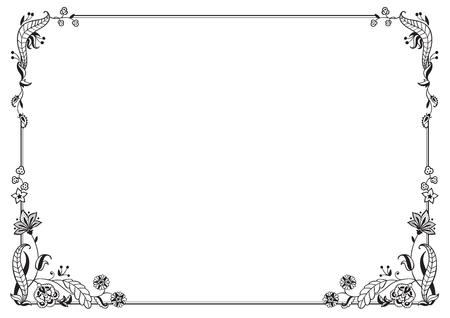 Decoración caligráfica de marco y página. Ilustración de vector. Vector de marco, borde y elemento decorativo horizontal.