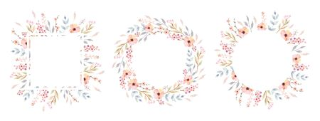 Floral Frame Collection. 일러스트