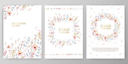 Vintage vector card, wedding invitation.