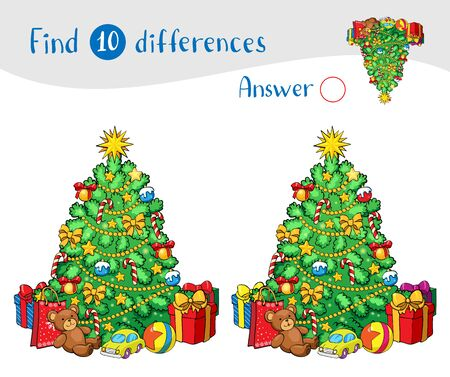 Christmas tree with decorations and gifts. 일러스트