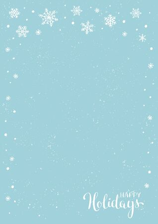 Winter holidays or Christmas background with snowflakes. New year illustration. Winter card design. 일러스트