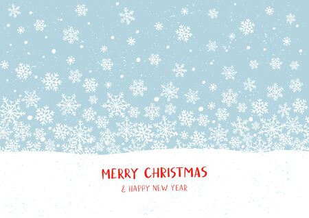 Winter holidays or Christmas horizontal seamless pattern with snowflakes. New year illustration. Winter card design. 일러스트