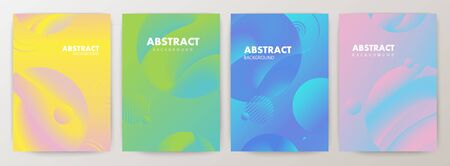 Set of minimal abstract shape on gradient colors