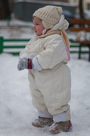poppet: Little girl Stock Photo