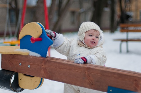 poppet: Little girl on a playground