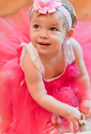 poppet: Little girl in pink dress