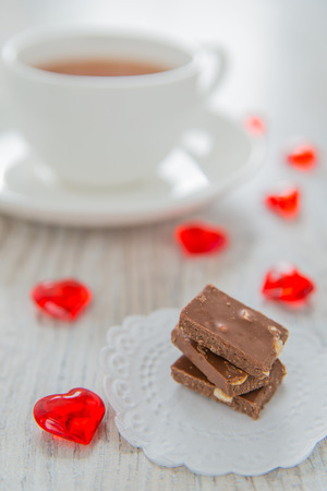 st  valentine: Chocolate and tea on St. Valentine day