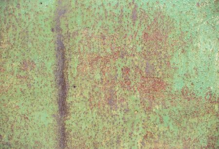 Texture background of metal sheet. stained rusty metal backdrop with copyspace for text