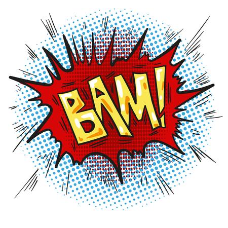 Pop art retro comic speech bubble with word Bam Stock Photo